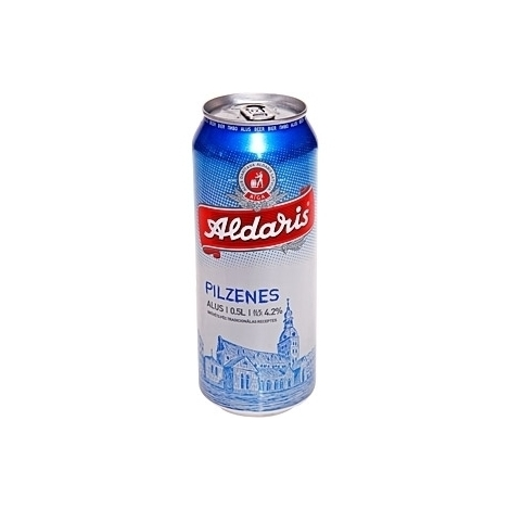 Beer Aldaris Pilzenes canned, 4.2%, 0.5l
