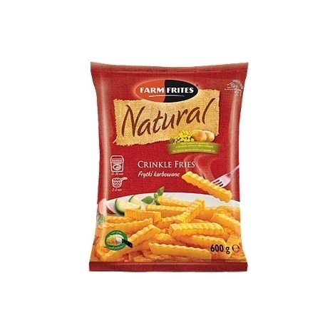 French fries, ribbed straws, Natural, 750g