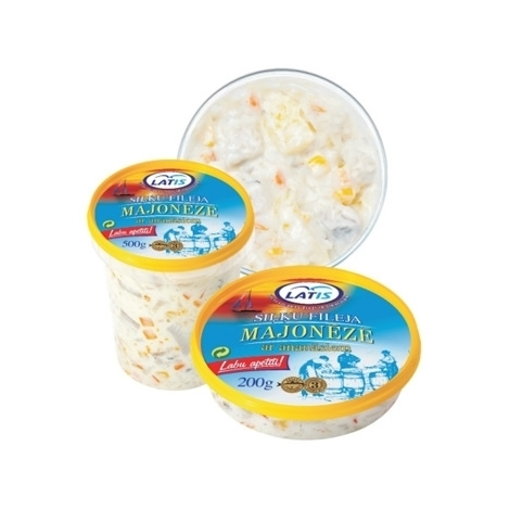 Herring fillet in mayonnaise with pineapple, 500g