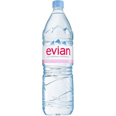 Natural mineral water Evian, 1.5l