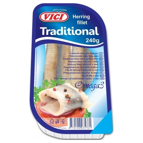 Herring fillet traditional, Viči, 240g