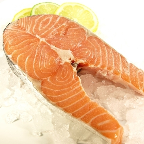Chilled atlantic salmon steak, 1kg
